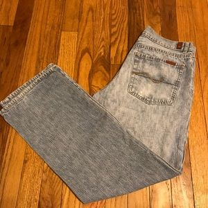 7 For All Mankind Dojo Mid Rise Jeans Size 30x28